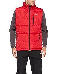Trespass Chaleco acolchado para hombre, cierre de broche, hombre, color rojo, tamaño XL