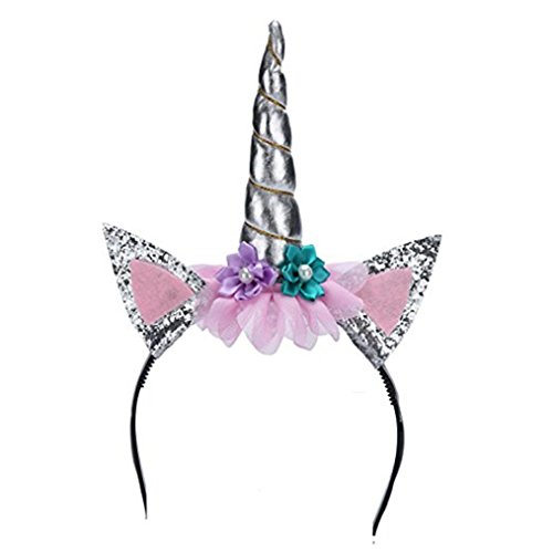 Silver Witch Halloween Headband Party Fancy Dress Up Show Accessory Kids Adults