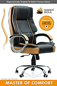 Green Soul Vienna Big & Tall Premium Finish Executive Office Chair (Black & Tan) (+3 Colors)
