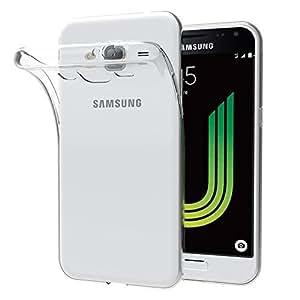 Custodia Cover Samsung Galaxy J7 2016, iVoler Samsung Galaxy J7 2016 Silicone Caso Molle di TPU Cristallo Trasparente Sottile Anti Scivolo Case Posteriore Della Copertura Della Protezione Anti-urto per Samsung Galaxy J7 2016 (Crystal Clear)- 18 Mesi di Garanzia