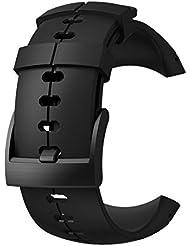 Suunto, Original Ersatz-Uhrenarmband für alle Suunto Sparten Ultra Uhren, Silikon, Länge: 24,5 cm, Stegbreite: 25 mm, Tiefschwarz, Inkl. Stifte zur Montage, SS022687000