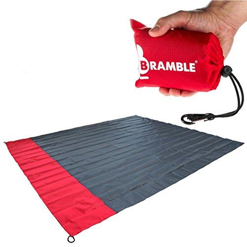 Bramble wasserdichte Picknickdecke mit Tasche - Rot