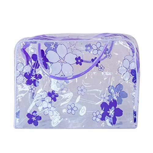 Vektenxi Klare Kulturbeutel Floral Travel Make-up Taschen für Frauen Mädchen wasserdicht PVC Cosmetic Organizer langlebig und praktisch -
