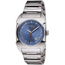 0feed726b0d8 Breil TW0346 - Reloj analógico de caballero de cuarzo con correa de acero  inoxidable plateada -