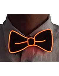 7a0fabfdee26 Mendy LED Light Up Costume Bow Tie Accessory for Halloween Christmas Rave  party New Years Gift
