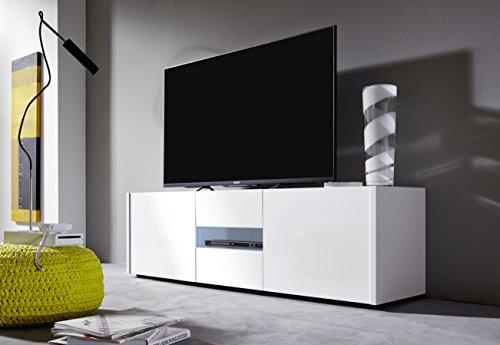 trendteam IM32001 TV-Möbel Lowboard weiß Hochglanz lackiert - TV ...