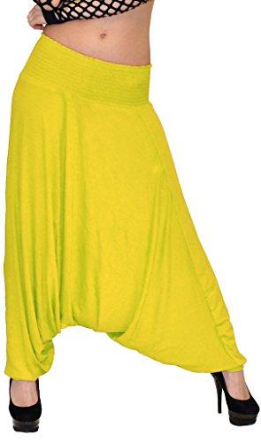 Pantalon Sarouel pour Femme Pantalon Pump Femme Pantalons Harem pour Dames Pantalon de Yoga S10 Jaune