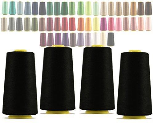 325 black - 4 x Cones overlocking thread 40S/2