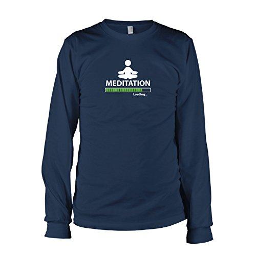 TEXLAB - Meditation Loading - Langarm T-Shirt Dunkelblau