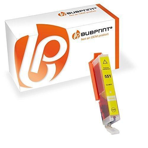 Bubprint Druckerpatrone Yellow Kompatibel Für Canon Pixma MX925 IP7250 MG5650 MX725 Drucker Canon CLI-551 XL CLI551XL CLI 551 XL PGI-550 XL Mit Chip