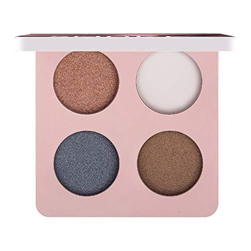 SCEMARK Damen Lidschatten Palette Farb-Make-up 4 Farbe Lidschatten Gericht Dunkelblau Lidschatten Weinrot