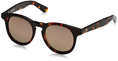 347abbdd26 Wolfnoir Unisex Adults' Hathi Ace Spoty Sunglasses, Multicolour (Negro/Rose  Gold)