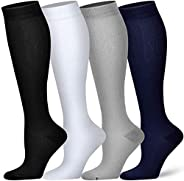 ChenMay 4 Pairs Compression Socks for Women and Men - Best Medical, Nursing, Athletic, Edema, Diabetic,Varicos