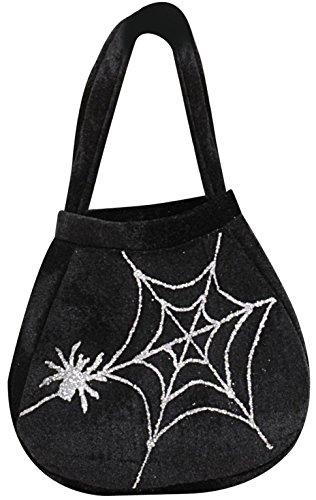 Halloween-Handtasche Spinnennetz schwarz Einheitsgröße (Halloween Handtasche)