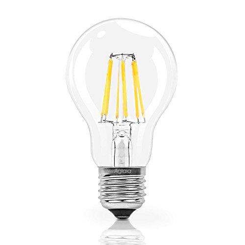 Aglaia Lampadine LED Goccia a Filamento, Attacco E27, 6W Equivalente a 60W, Bianco Caldo 2700K 600LM Lampadine a Pallina  (LT-B3)