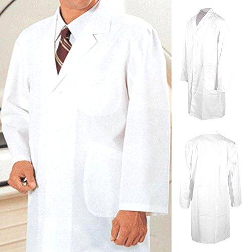 Heutec Laborkittel Berufsmantel Arztkittel Medizin Labormantel Labor Labormantel weiß (XL)