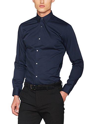 Jack & jones jprnon iron shirt l/s noos camicia formale, blu (navy blazer fit:slim fit), large uomo