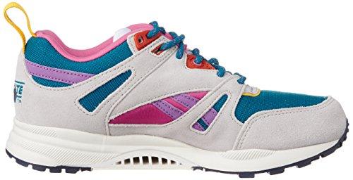 Reebok Ventilator So, Baskets Basses Femme Blanc - Weiß (Englsh Emerald/Steel/Pink/Amber/Navy/Chalk/Purple)