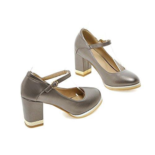 Adee Mesdames Princesse polyuréthane pumps-shoes Gris - gris
