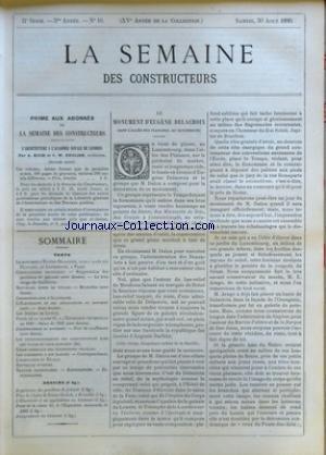SEMAINE DES CONSTRUCTEURS (LA) [No 10] du 30/08/1890