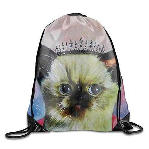 ZHIZIQIU Drawstring Backpack Princess Cat Goodie Bags,Promotional Gym Sack for Birthday Party (Princess Party-goody Bags)