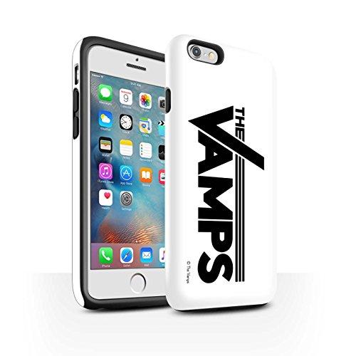 Officiel The Vamps Coque / Matte Robuste Antichoc Etui pour Apple iPhone 6S+/Plus / Pack 6pcs Design / The Vamps Graffiti Logo Groupe Collection Blanc/Noir