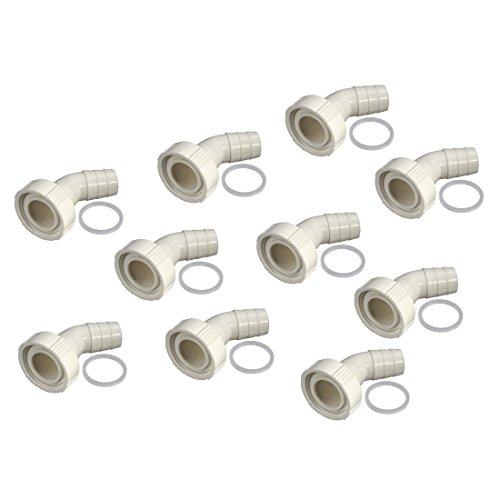 Xavax 10er Set Siphonanschluss zum Anschluss von Wasch- oder Spülmaschinen-Ablaufschläuchen am Siphon
