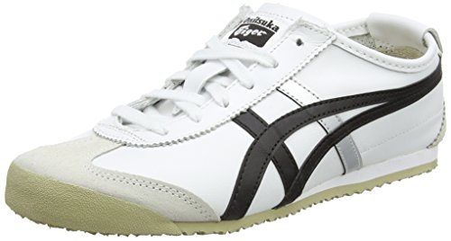 Onistuka Tiger Mexico 66 Unisex-Erwachsene Sneakers, Elfenbein (Whiteblack), 37.5 EU