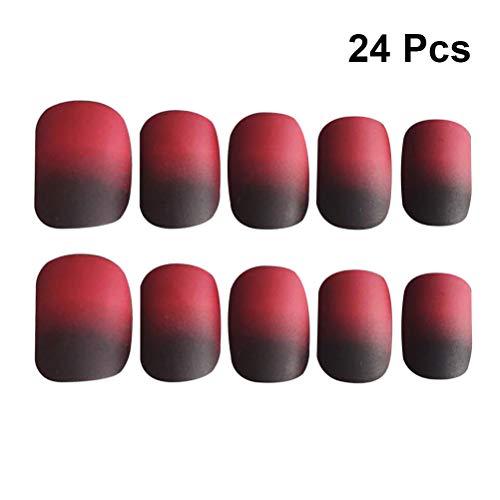 Frcolor Weihnachten gefälschte Nagelspitzen voller Abdeckungsvertikalitätsnägel für diy Nagelkunstnägel für Mädchenfrauen – 24pcs