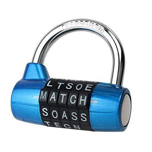 Gym Spind Schloss, Kingo 5Buchstabe Zahlenschloss Passwort stabiles Sicherheit Vorhängeschloss (Fitness-studio Schließfächer)