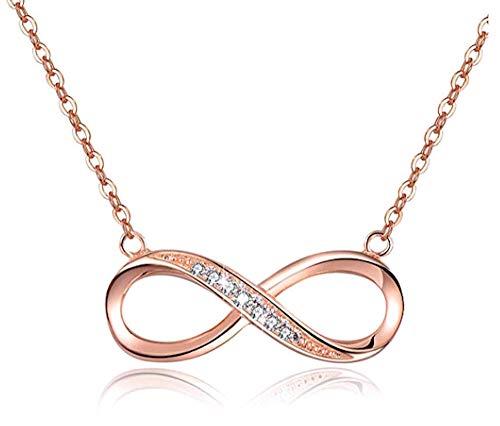 Collier Pendentif Infinity Pour Femmes, En Argent Massif 925...