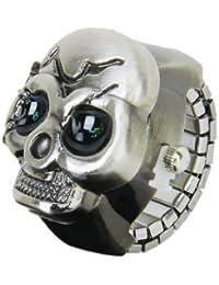 Bronce Cubierta Del Reloj Del Anillo De Dedo Del Cráneo Para Unisex