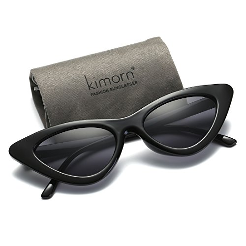 30a1b03efaa Kimorn Cat Eye Sunglasses For Women Clout Goggles Kurt Cobain Sun Glasses  K0566 (Black) - Buy Online in Oman.