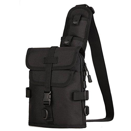 Tasche Herren Wasserdicht 1000D Nylon Sling Brust Bag Schulter Crossbody Messenger Bag Khaki Schwarz