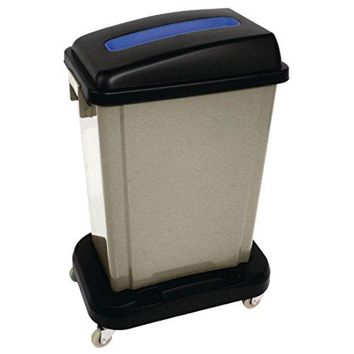 Jantex Papier Deckel Blau für CK960recyclebaren Abfall Recycling Mülleimer Küche