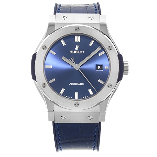 Hublot 542.NX.7170.LR blu Sunray Titanium automatico orologio da uomo