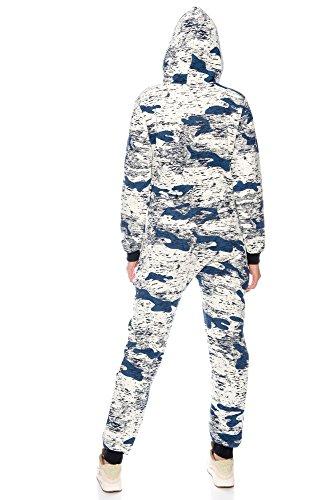 Crazy Age Jumpsuit Army Camouflage Overall Tarn Onesie Batik Blau