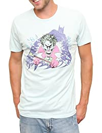 Batman And The Joker DC Comics Vintage Style Junk Food Adult T-Shirt Tee