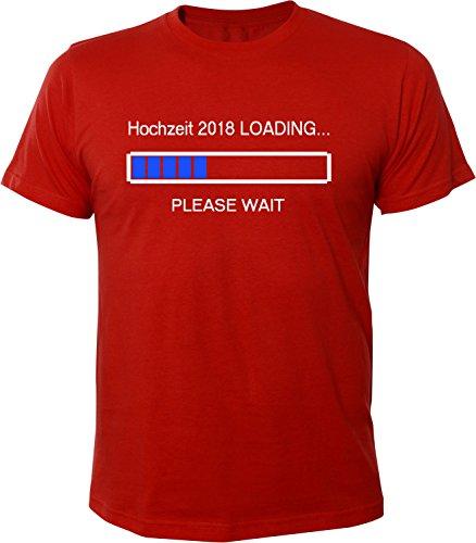 Mister Merchandise Herren Men T-Shirt Hochzeit 2018 Loading Tee Shirt bedruckt Rot