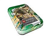 Top Media 180347 Lego Ninjago Serie IV, Barattolo in Latta, Verde, 7 Booster e Carta d'oro Limitata