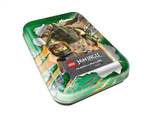 Top Media 180347 Lego Ninjago Serie IV, Tin Dose grün, 7 Booster und Limitierte Goldkarte