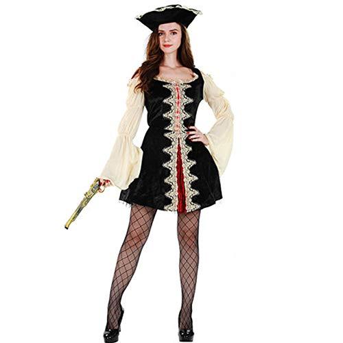 Holloween Kostüm Piraten - Tik Halloween Kostüm/Geburtstagsparty Cosplay Outfit - Gruseliges Piraten Halloween Kostüm für Herren,1