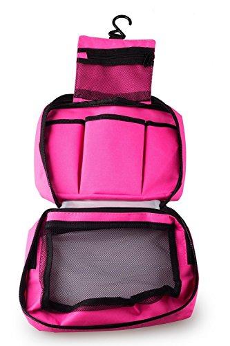 NOVAGO Kulturtasche Toiletbag Traveling Toiletbag - Grün Pink