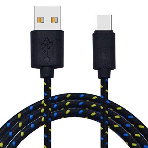 Preisvergleich Produktbild CICIYONER USB Typ C Kabel USB 2.0 zu USB Typ C 3M / 10FT Schnelllade- und Sync-Datenkabel (3M,  Schwarz)