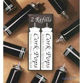 2 Nachf�llkartuschen f�r Weinflaschen-Korkenheber