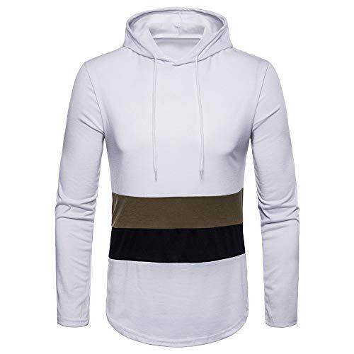 Langarmshirts Sannysis Herren Slim Fit Hoodie Herbst Winter Streifen Print Langarm Sweatshirt Top Bluse Basic Kapuzenpullover