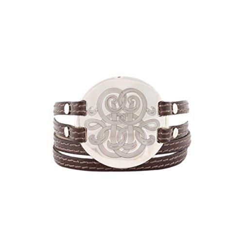 bracelet-diva-gas-bijoux-femme-comme-neuf-medaillon-argente-habille-de-volutes-gravees-monte-sur-du-
