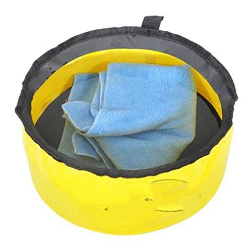 Lavabos de Salle de Bain Pliant lavabo Voyage Portable extérieur Pliant lavabo Voyage en Plein air Sac Pliant (Color : Yellow, Size : 11 * 26 cm)