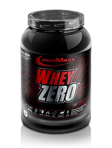 IronMaxx Whey Zero - Dose - Kirsche-Yoghurt, 1er Pack(1 x 908 grams) - Zero Carb Whey Protein