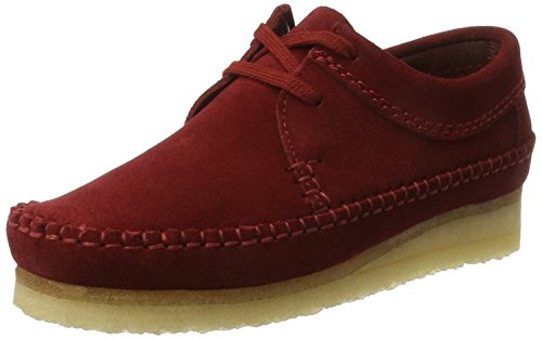 Clarks Originals Damen Weaver. Derbys Rot (Cranberry Suede)